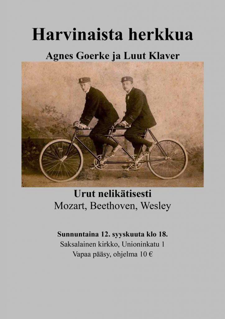 Seltene Delikatessen, Konzert am 12.9.2021 in der Deutschen Kirche in Helsinki
